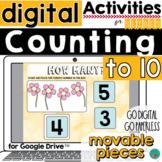 Counting Activity for Google Classroom DISTANCE LEARNING