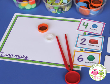 Counting Activity for Preschool and Pre-k | STEAM Count & Create Maker Mat