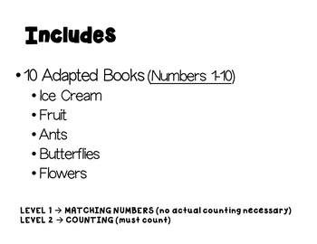 Counting Adapted Interactive Books- Fall