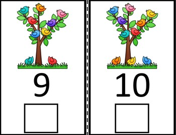 Counting Adapted Interactive Books- Spring