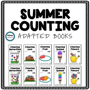 Counting Adapted Interactive Books- Summer