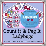 Counting & Addition Clip & Peg Ladybug Cards - Numbers 1-20 - Count & Clip