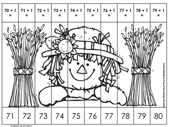 Counting & Addition Picture Number Puzzles {Thanksgiving Edition}