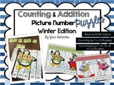 Counting & Addition Picture Number Puzzles {Winter Edition}