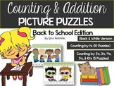 Counting & Addition Picture Puzzles {Back to School Edition}
