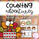 November Counting Adventures: More or Less Edition for Task Boxes