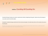 Counting All and Counting On Strategies using Mental Math