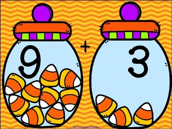 Addition - Counting All and Counting On with Candy Corn
