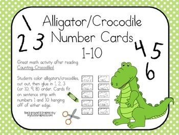 Counting Alligator/Crocodile Number Page FREEBIE