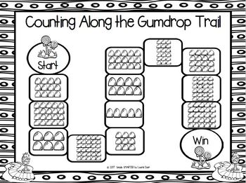 Counting Along the Gumdrop Trail:  NO PREP Counting Board Game (1-30)