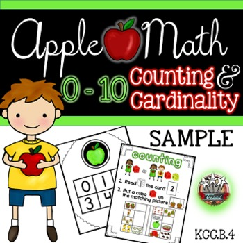 Counting and Cardinality Apple Math FREE Sample