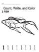 Count, Color, and Write Book - Animal Theme