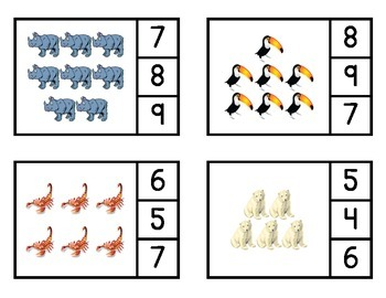 Counting Animals Clip-It Books (0-20)