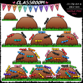 (0-10) Counting Ants Clip Art - Counting & Math Clip Art &