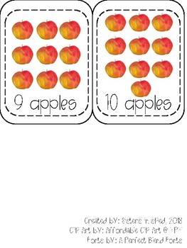 Counting Apple Cards (Numbers 1-10)