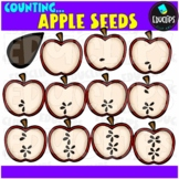 Counting Apple Seeds Clip Art Bundle  {Educlips Clipart}