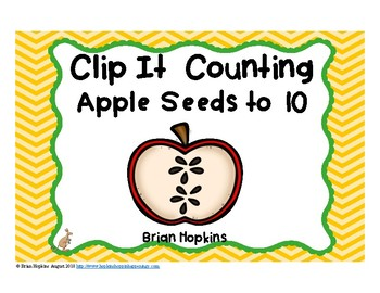 Clip It Counting Apple Seeds to 10