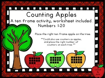 Counting Apples A Ten Frame Activity
