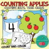 Counting Mats Apple Math Centers and Worksheets