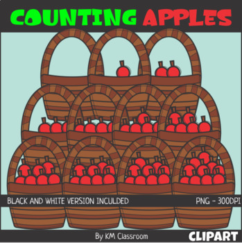 Counting Apples Basket ClipArt