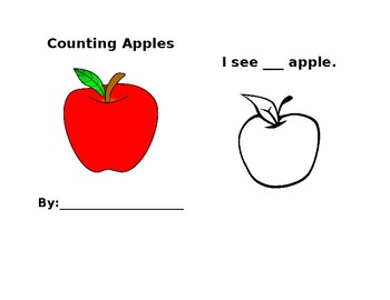 Counting Apples Book 1-10 (Editable)