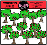Counting Apples Clip Art Bundle {Educlips Clipart}