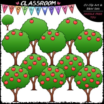 Counting Apples Clip Art - Sequence, Counting & Math Clip