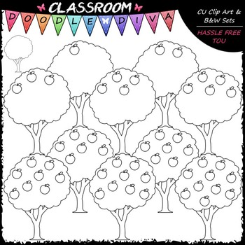 (0-10) Counting Apples Clip Art - Sequence, Counting & Math Clip Art & B&W Set