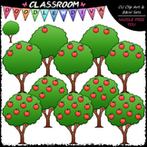 (0-10) Counting Apples Clip Art - Sequence, Counting & Mat