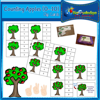 Counting Apples Clip Cards (0-10)