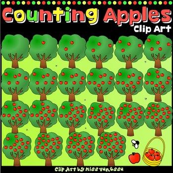 Counting Apples Clip Art