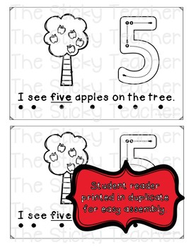 Counting Apples Emergent Reader and Digital Big Book for PreK and Kindergarten