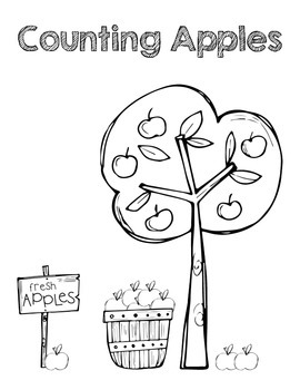Counting Apples File Folder Game