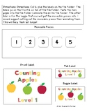 Counting Apples - File Folders