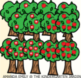 Counting Apples Math Clipart
