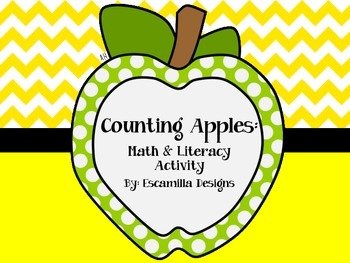 Counting Apples: Math & Literacy FREEBIE for PK/K/1