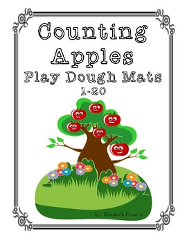 Counting Apples Play Dough Mats (1-20)