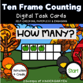 Digital Counting Apples in Ten Frames Power Point Game