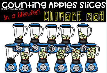 Counting Apples -in the blender-(scribble clips)