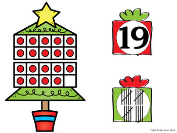 Christmas Counting and Number Sense Math Center Activity