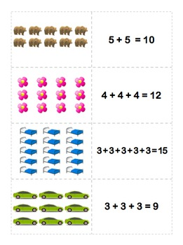 Counting Arrays Activity - Common Core 2.OA.4