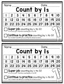 Counting Assessments Sampler