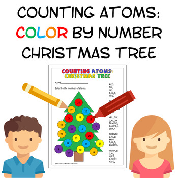 Counting Atoms Christmas Tree
