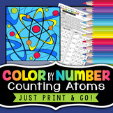 Counting Atoms - Color By Number