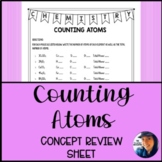 Counting Atoms: Concept Review Sheet using Coefficients an