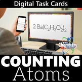 Counting Atoms Digital Task Cards (Distance Learning)