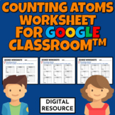 Counting Atoms Digital Worksheet for Google Classroom™