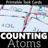 Counting Atoms Printable Task Cards Activity