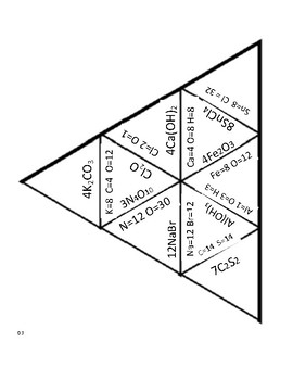 Counting Atoms Triangle Puzzle