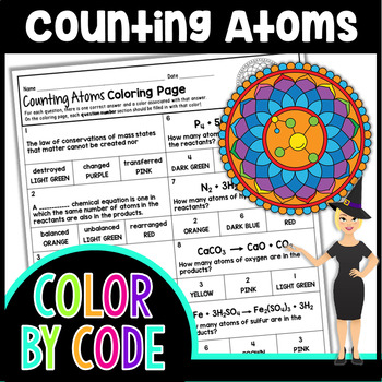 Counting Atoms Science Color By Number or Quiz